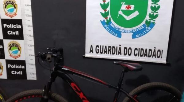 Bicicleta foi furtada na Escola Peri Martins (Foto: Divulgação/PM)